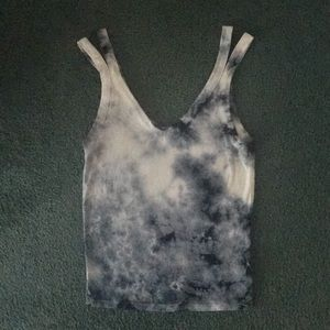 American Eagle blue tie dyed super soft tank